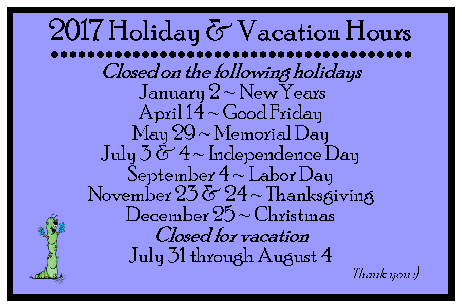 Office Sparta Hours Holidays and vacation 2017